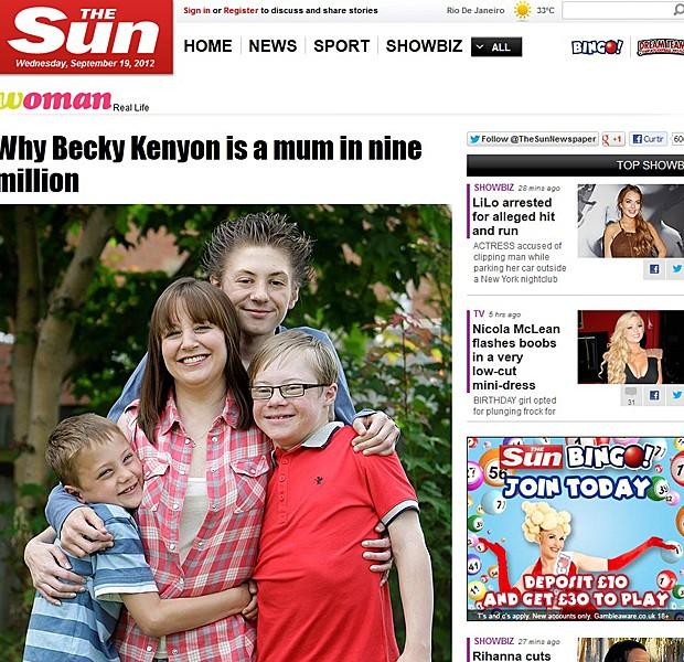 Mãe três filhos doenças diferentes síndrome de Down autisto (Foto: The Sun/Reprodução)