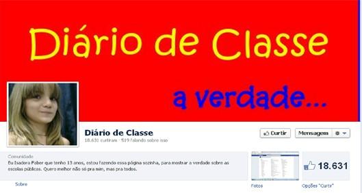 A página Diário de Classe, de Isadora Faber (Foto: Reprodução Internet)