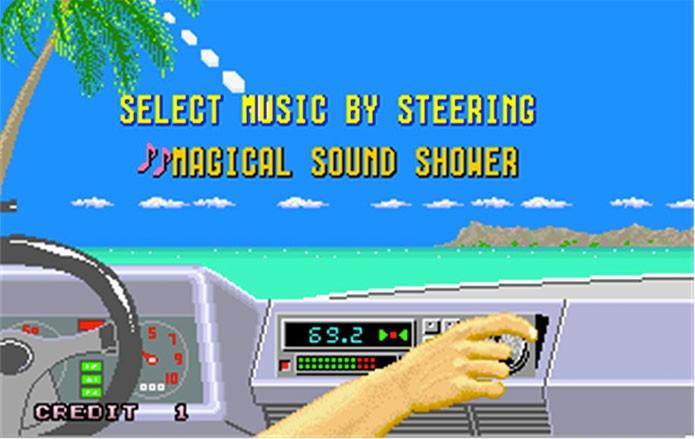 Out Run permitia escolher rádio antes das corridas (Foto: Divulgação/Sega)