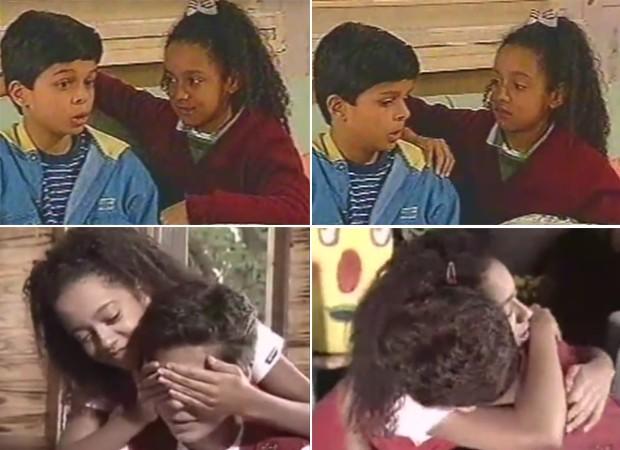 Aretha Oliveira e Pierre Bittencourt: inesquecíveis como os irmãos Pata e Mosca, os únicos chiquititos a atuar do início ao fim da novela (Foto: Reprodução)