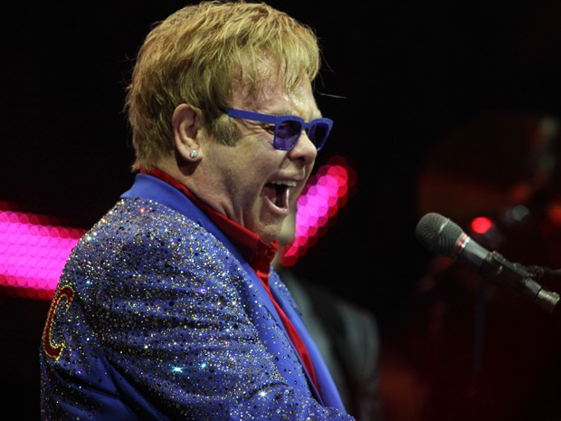 Elton John  (Foto: Mateus Baranowski/G1)