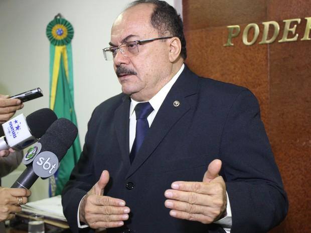 Presidente do TJ-PI falou sobre investigações de fraude em concurso (Foto: Catarina Costa/G1 PI)