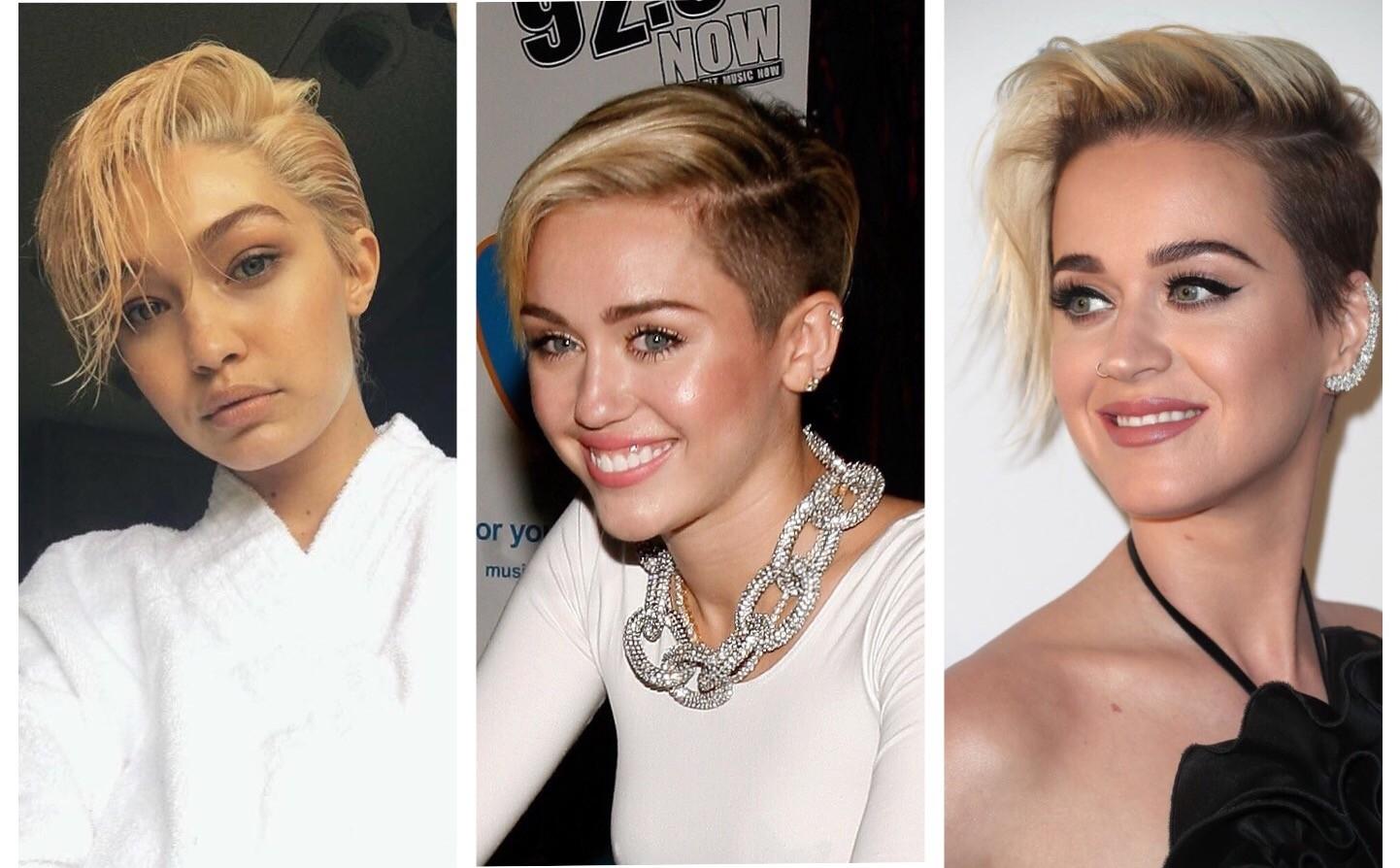 Gigi, Miley e Katy (Foto: Reprodução/Instagram e Getty Images)
