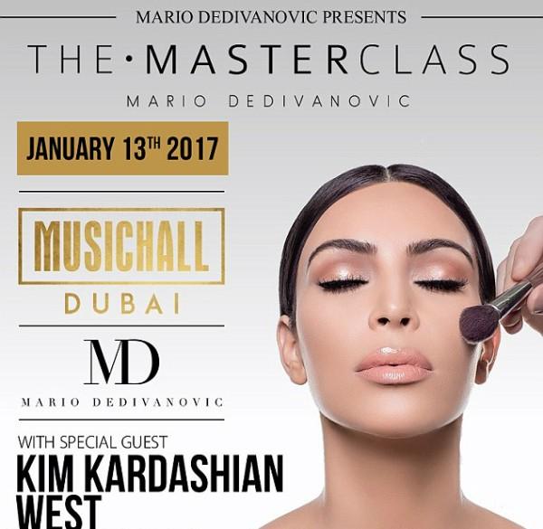 O anúncio do evento com a presença de Kim Kardashian (Foto: Divulgação)