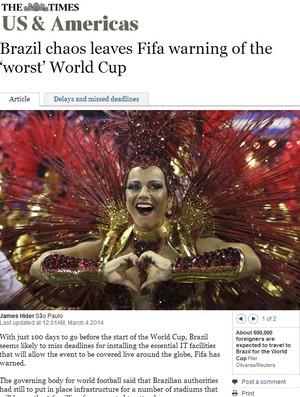 Matéria jornal inglês  (Foto: Reprodução )
