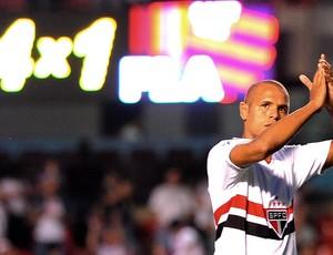Luis Fabiano, São Paulo x Flamengo (Foto: Marcos Ribolli / GLOBOESPORTE.COM)