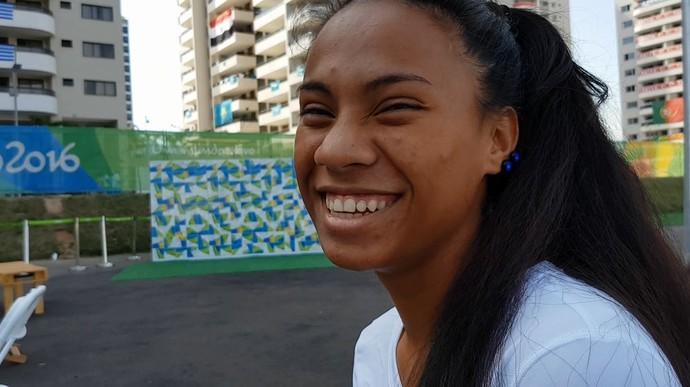 Lerissa Henry Micronésia Atletismo (Foto: Rodrigo Alves/GloboEsporte.com)