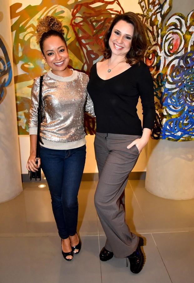 Aretha Oliveira e Francis Helena (Foto: AgNews)