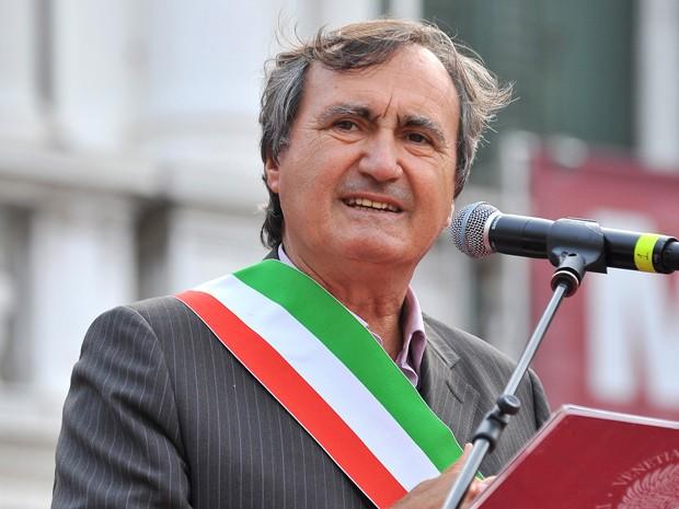 O prefeito de Veneza, Luigi Brugnaro, em foto de 17 de julho (Foto: AP Photo/Luigi Costantini)