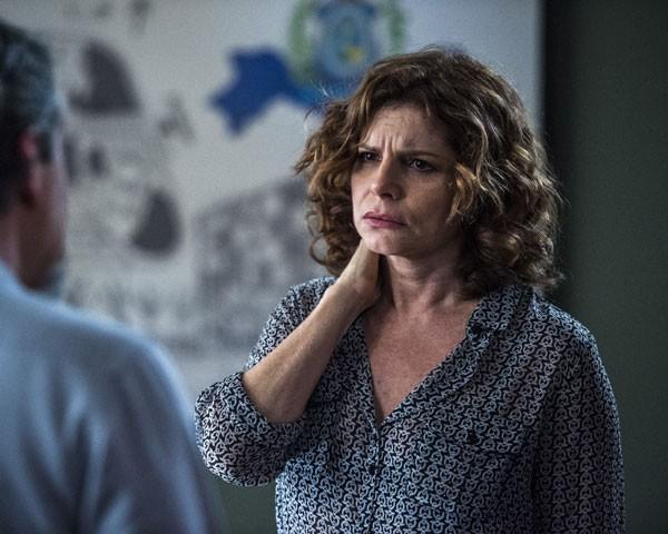 A caracterização de Deborah Bloch (Foto: Divulgação TV Globo)