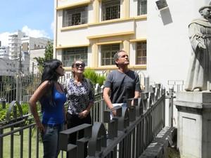 Integrantes do Conphap inspecionam instalação de climatizadores no Santuário em Divinópolis (Foto: Flávio Flora/Agora)