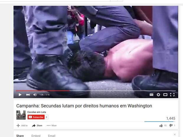 Trecho do vídeo da campanha para arrecadação de fundos para viagem à Comissão Interamericana de Direitos Humanos (Foto: Reprodução/Youtube)