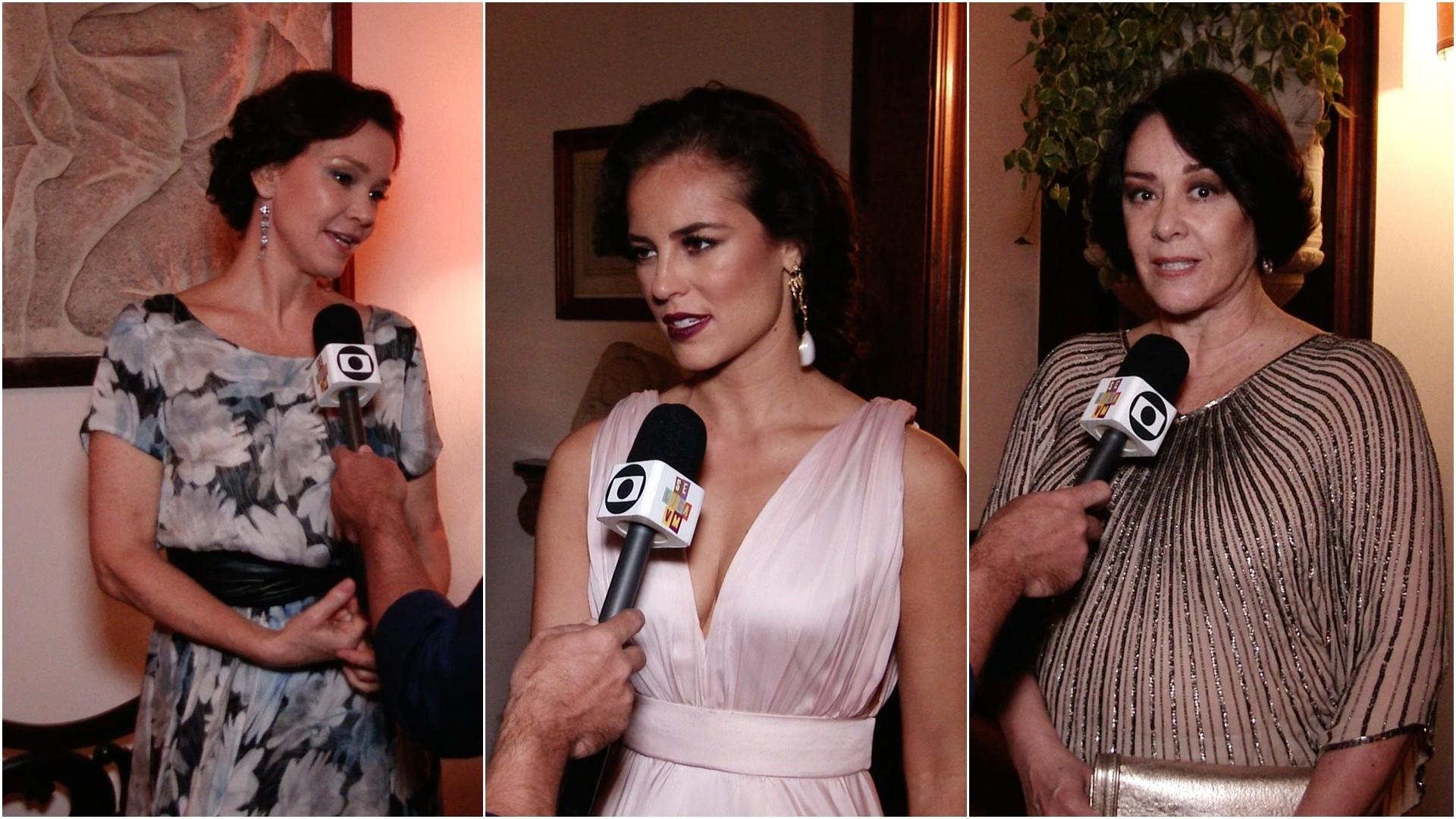 Júlia Lemmertz, Paola Oliveira e Nívea Maria revelam curiosidades. (Foto: Se Liga VM)