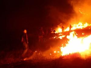 incêndio chapada diamantina bahia (Foto: Fabiana Carvalho / Arquivo Pessoal)