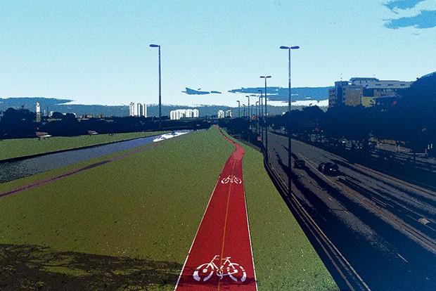 ARTÉRIA VIVA A criação de parques  ao longo dos rios  melhorou o transporte e as condições  de moradia na cidade (Foto: Ilustração: Luís Dourado)