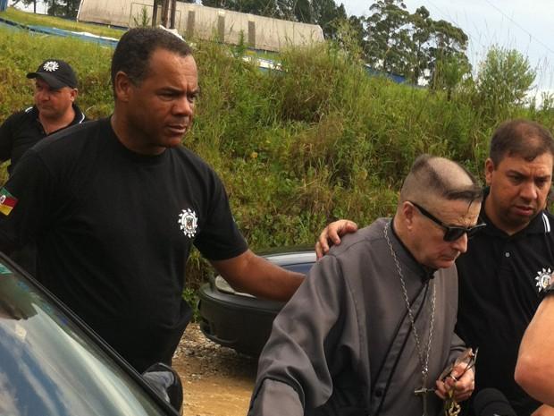 Ex-padre foi preso nesta terça-feira (9) em Caçapava do Sul (Foto: Reprodução/RBS TV)