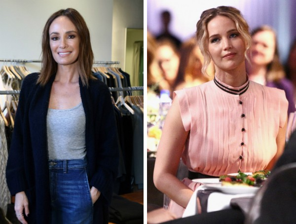 A apresentadora Catt Sadler e a atriz Jennifer Lawrence (Foto: Getty Images)