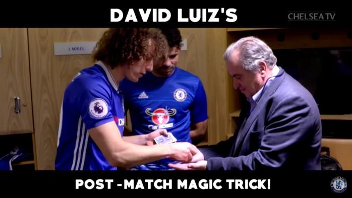 BLOG: David Luiz dá show de mágica no Chelsea