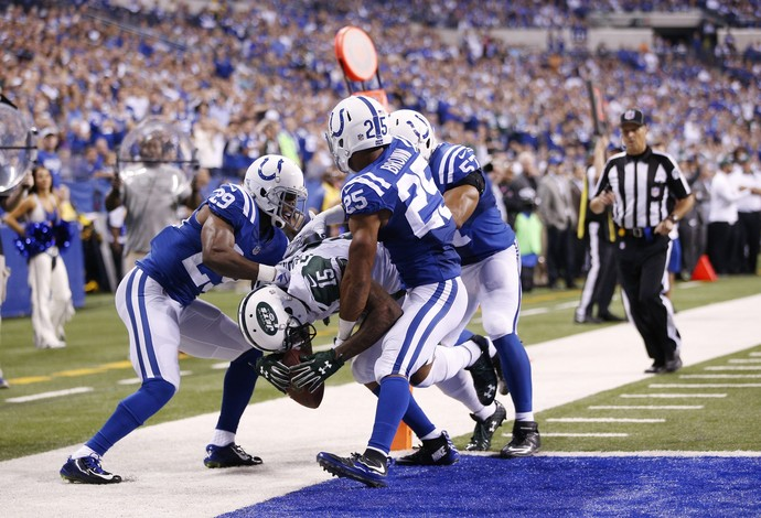 Brandon Marshall touchdown new york jets x indianapolis colts nfl (Foto: Getty Images)