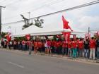 Servidores de 15 municípios fazem manifestação em frente ao TCE