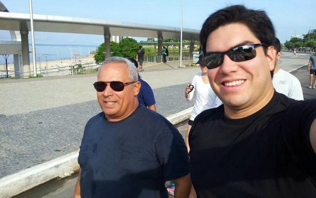 Eduardo Monteiro de Paula e Clayton Pascarelli suaram a camisa no treino domingo (Foto: Clayton Pascarelli/ TV Amazonas)
