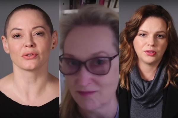 Rose McGowan, Meryl Streep e Amber Tamblyn (Foto: Reprodução)