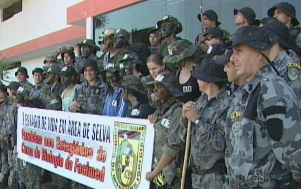 Turma de 21 alunos foi treinada pelo Grupo de Operações Especiais de Cacoal (Foto: Rondônia TV)