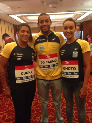 Allan do Carmo, Poliana e Ana Marcela (Foto: Daniel Cady)