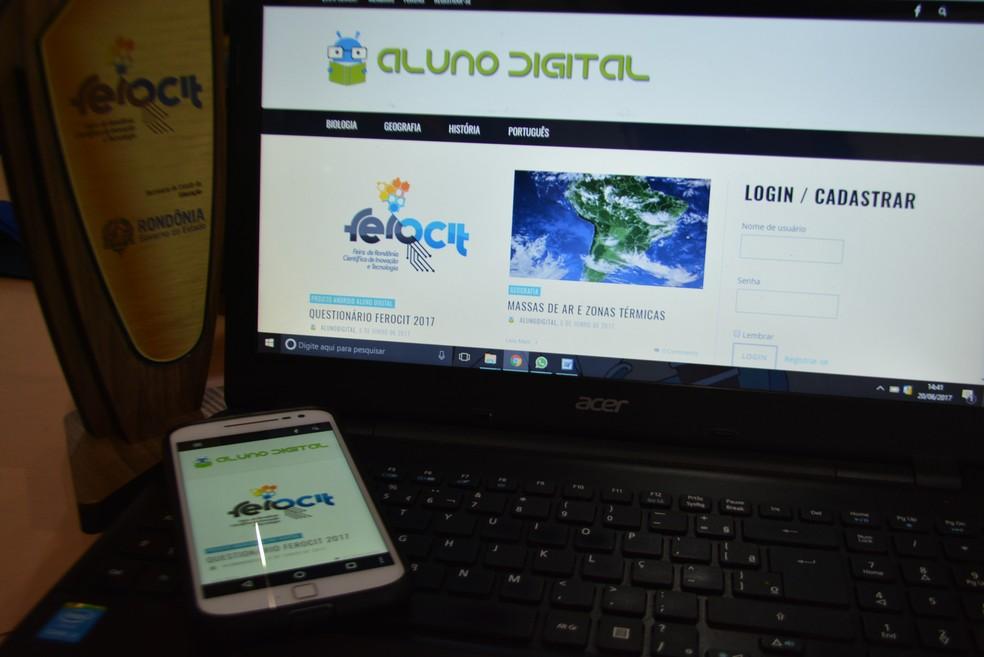 Alunos de RO desenvolvem app para se prepara  para o Enem  (Foto: Jheniffer Núbia / G1)