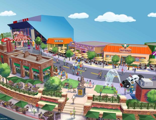 Springfield na Universal (Foto: Universal Orlando/ divulgação)