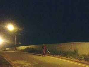 Palhaço flagrado próximo de cemitério de Araguaína (Foto: Divulgação)