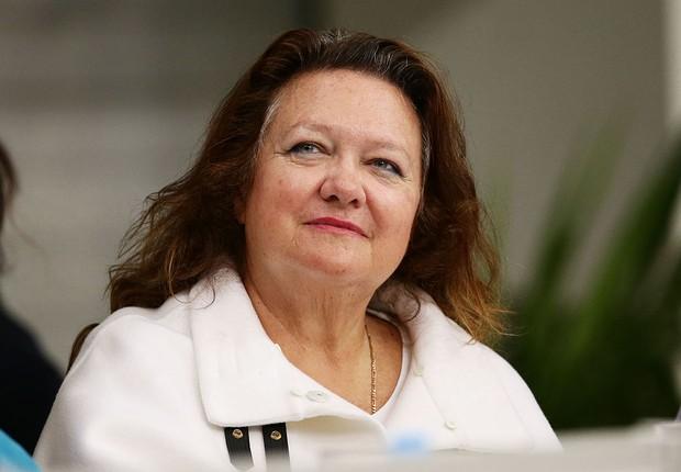 Gina Rinehart, a pessoa mais rica da Austrália e a mulher que mais se destacou no ranking da Forbes de 2017 (Foto:  Matt King/Getty Images)
