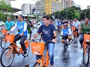 ACM Neto inaugura ciclofaixa em Salvador (Foto: Max Haavk/Agecom)