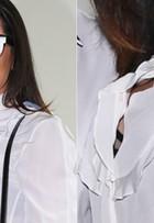 Anitta é traída por blusa e acaba deixando sutiã à mostra no SPFW