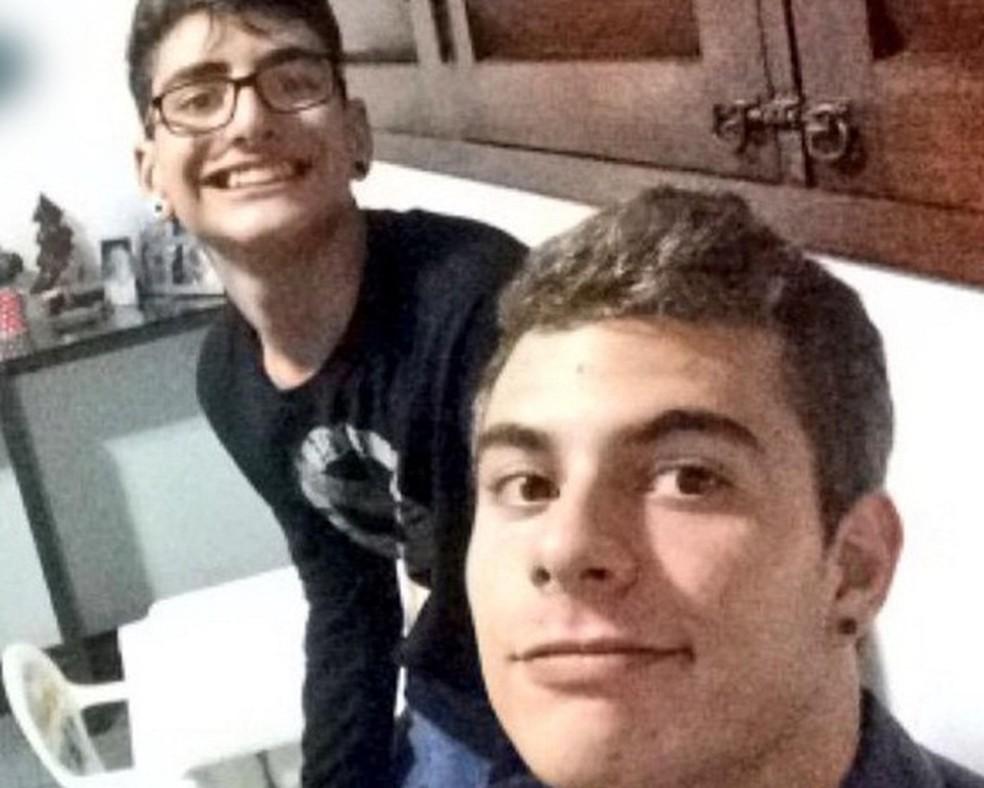 Marvin Correia (esquerda) se tornou réu por suspeita de ter ajudado o amigo Patrick Nogueira (direita) a matar o tio Marcos Campos (Foto: Reprodução/Twitter/Arquivo)