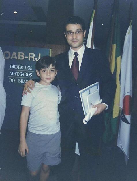 Henrique Farias com o filho, Mateus (Foto: Arquivo pessoal)