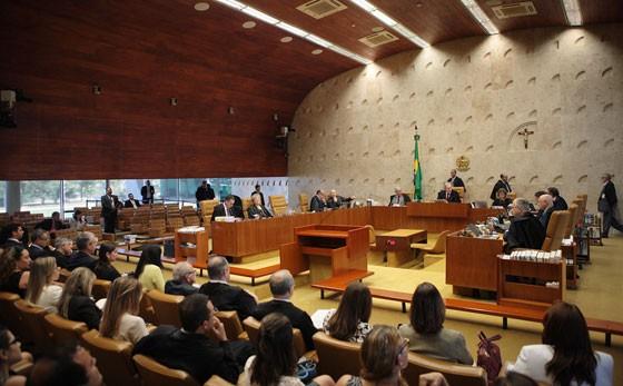 Sessão extraordinária do Plenário do STF para analisar liminares sobre votação do impeachment na Câmara (Foto: Rosinei Coutinho/SCO/STF)