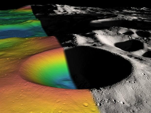 Cratera Lua (Foto: NASA/Zuber, M.T. et al., Nature, 2012)