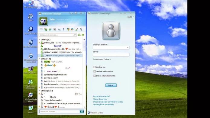 MSN Messenger Home (Foto: Reprodução)