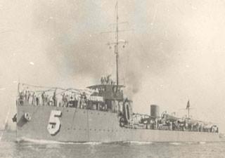 Contra-torpedeiro Paraíba integrou a força naval brasileira que patrulhou a costa africana (Foto: Diretoria do Patrimônio Histórico e Documentação da Marinha)