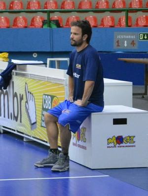 Gustavinho Mogi Basquete poupado no treino (Foto: Cairo Barros)