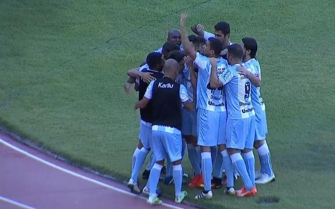 Londrina gol Rafael Gava (Foto: Reprodução/Premiere)