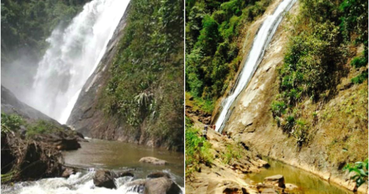 Nível da cachoeira Véu de Noiva, no ES, é o mais baixo em 20 anos - Globo.com