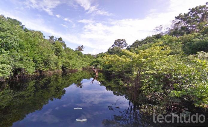 Rio Negro no Google Street View (Foto: Reprodução/Barbara Mannara)
