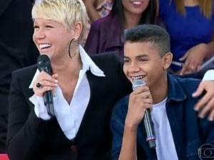 Eduardo junto com Xuxa (Foto: TV Xuxa/TV Globo)