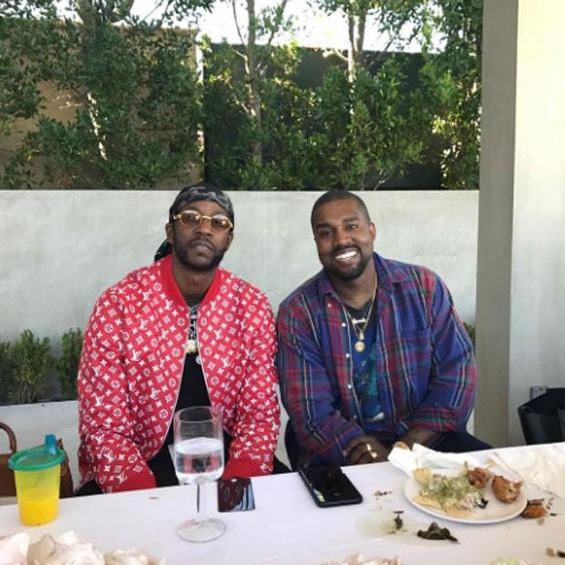 2 Chainz e Kanye West (Foto: Reprodução)