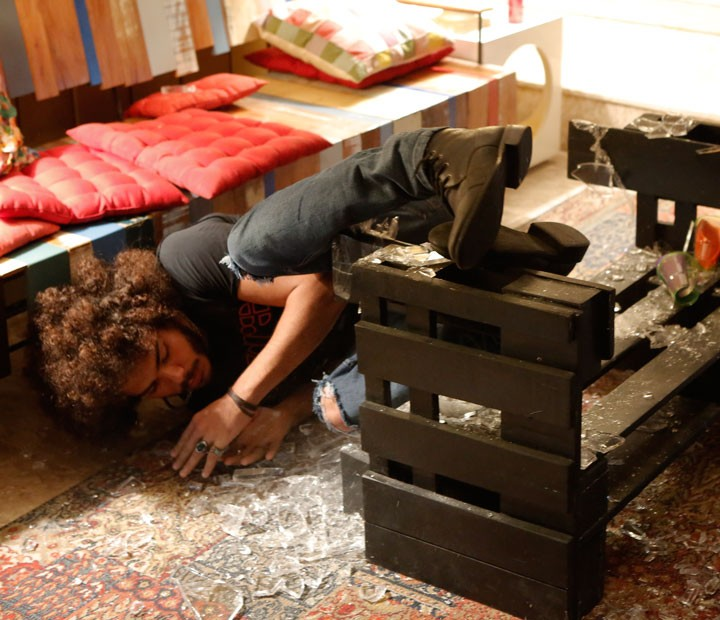 ...e o cara vai ficar no chão - literalmente! :O (Foto: Fábio Rocha/Gshow)