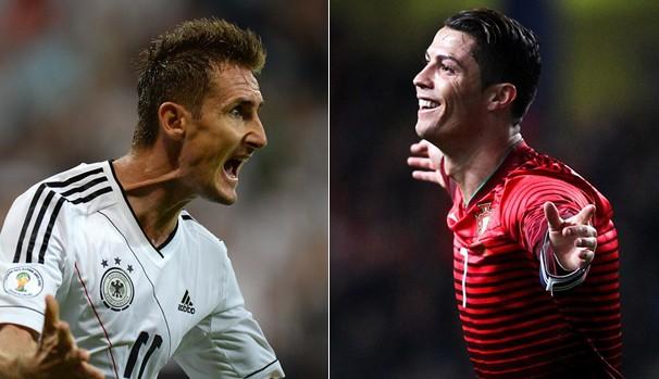 Miroslav e Cristiano (Foto: Divulgação FIFA)