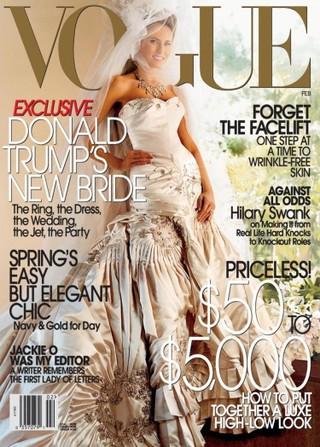 Melania Trump foi capa da revista Vogue América ao casar com vestido de R$265 mil (Foto: Reprodução do Instagram)
