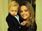 Filho de Neymar vai todo estiloso a evento com a mãe em São Paulo